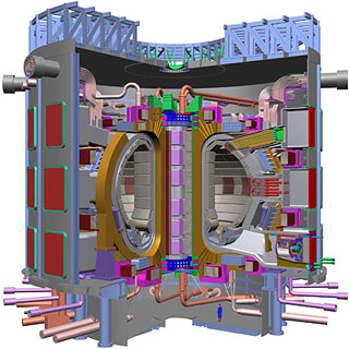 Cutaway diagram of the future ITER experiment